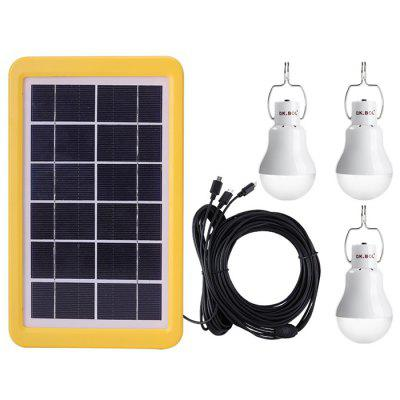 3GS - 1200 Solar Light Control Manual Charging Lighting System Portable Lamp 3pcs