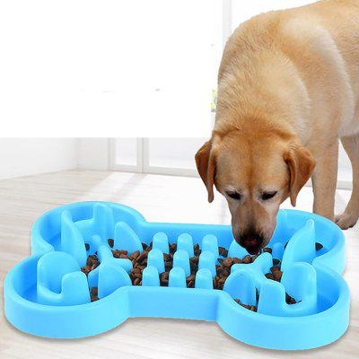 Bone Shape Silicone Slow Feeder for Dogs