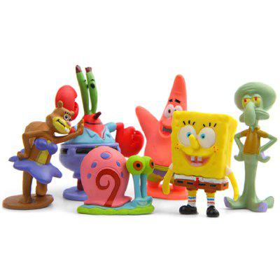 Undersea Creature Cute Models for Home Decoration 6 pcs