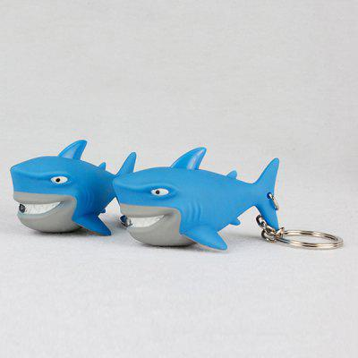 Shark Style Key Chain with LED Light / Sound Gift 1pc