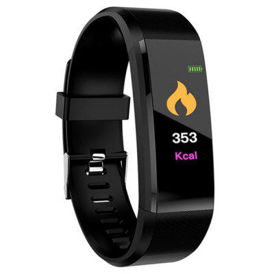 Gearbest ID115 Plus 0.96 inch Smart Bracelet - BLACK Bluetooth 4.0 Call / Message Reminder Heart Rate Monitor Functions