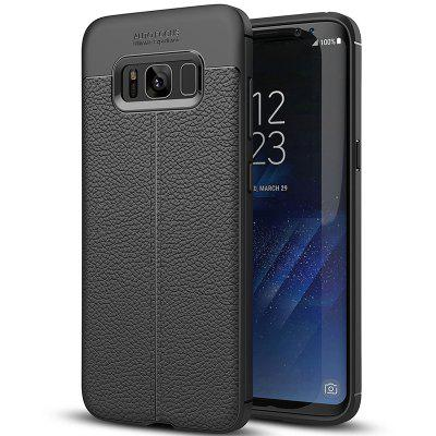 ASLING Litchi Grain TPU + PU Leather Back Cover Case for Samsung Galaxy S8