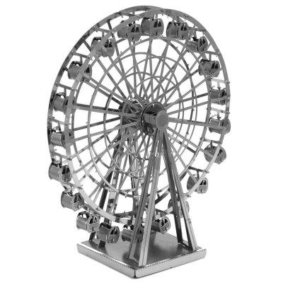 3D DIY Stainless Steel Ferris Wheel Puzzle Model Educational Toy for Manual Assembly
