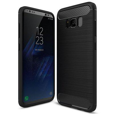 ASLING Carbon Fiber TPU Back Protective Case for Samsung Galaxy S8
