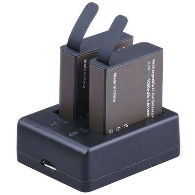 Original EKEN PG1050 Dual 1050mAh Li-ion Battery with Double Ports Charging Dock for Action Camera