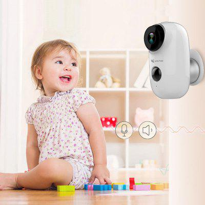 Adorbee A3 Smart WiFi IP Network Camera Security Monitor with PIR Motion Sensor Rechargeable Battery