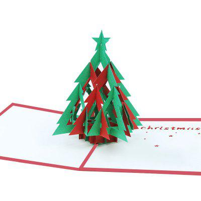3D Christmas Tree Greeting Card for Benediction