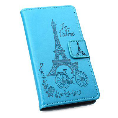 Full Covered PU Phone Case with Tower Printing for One Plus 6