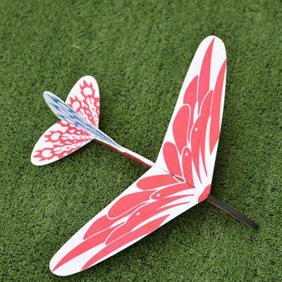 DIY Rubber Band Whirling Hand Throwing Foam Aircraft Toy
