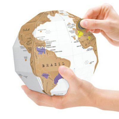 SP1326 DIY Scratch Globe Tellurion Toy