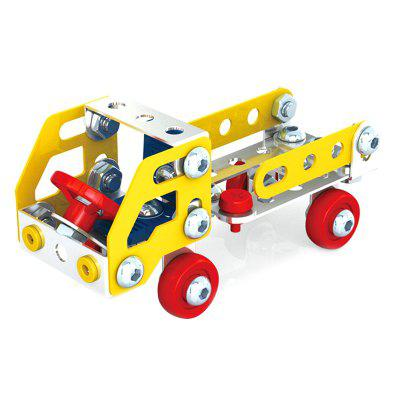 3D Metal Educational Blocks Mini Truck Building Toy