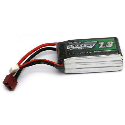 Airtonk 753562SP - 1300 1300mAh 11.1V 30C LiPo Battery T Plug for RC Drone DIY Accessory