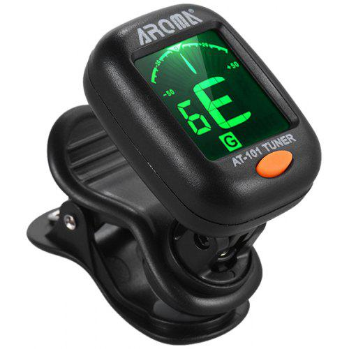 AROMA AT - 101 Folding Rotatable Tuner for Electric Guitar Ukelele