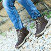 Homem Sports Shoes Casual Lace Up Sneakers Wearable - MARROM ESCURO