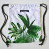 Leaf Pattern Light Weight Backpack for Sports - WHITE