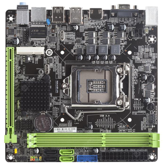 Maxsun MS - Intel Motherboard H81IL SATA3.0 / USB3.0 / Dual Channel DDR3 - BLACK