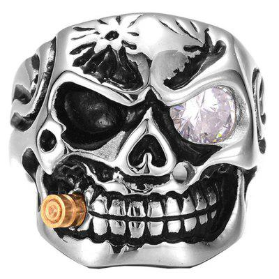 Men Ring Alloy Creative Pattern Halloween Funny
