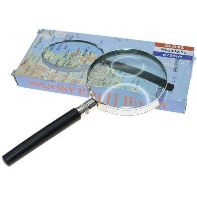 Round Glass 4X Magnifier for Viewing Small Print / Objects 75mm