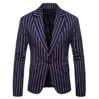 Men Blazer Suit Stripe Fashion