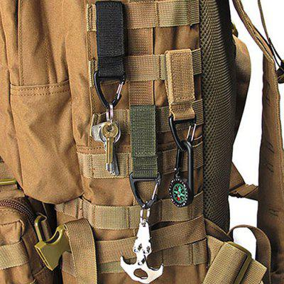 Outdoor Tactical Nylon Webbing Backpack Hang Buckle Multifunctional Carabiner D-type Keychain