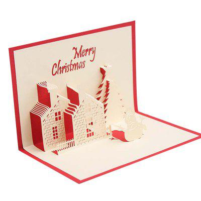 Creative 3D Little House Design Greeting Card