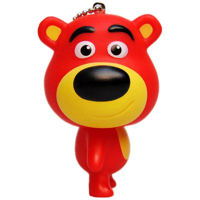 Big-head Bear Rubber Key Chain