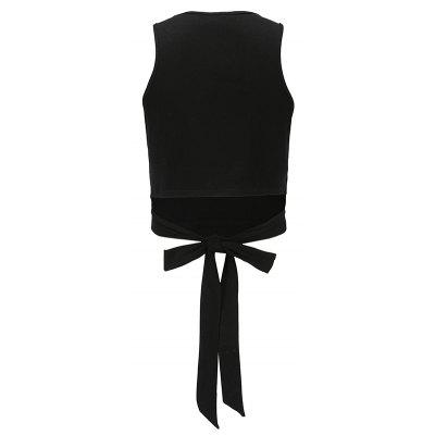 Women Tank Top Vest Knot Back Slim