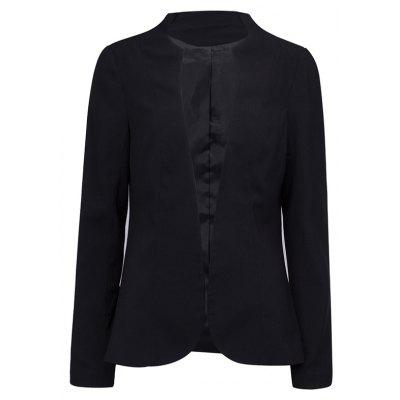Mujeres Long Blazer Ocio Color Sólido