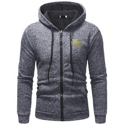 Men's Leisure Long Sleeve Hoodies with Zipper Decoration