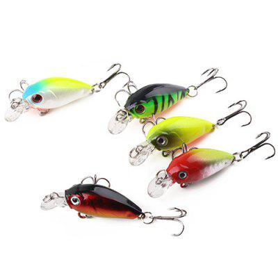 HENGJIA Outdoor Lure Hard Fishing Bait 5St