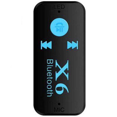 X6 Car Bluetooth Audio Receiver AUX Bluetooth Adapter