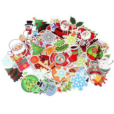 Christmas Theme Car Motorcycle Bicycle Laptop Stickers 100pcs