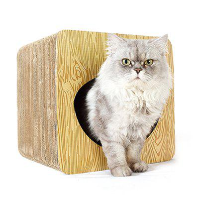 Creative Hollow Tunnel Cat Square Corrugated Cardboard Scratching Post