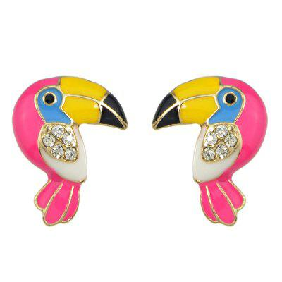 ER - 6088 Kleurrijke Parrot Fashion Stud Earrings