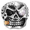 Men Ring Alloy Creative Pattern Halloween Funny - WHITE