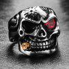 Men Ring Alloy Creative Pattern Halloween Funny - RED