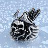 Men Ring Metal Creative Pattern Halloween Funny - SILVER
