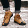 Men Lace-up Casual Shoes Comfortable Stylish - GOLDEN BROWN