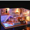 Creative DIY Jucării din lemn Dollhouse Toy Set Set - MULTI