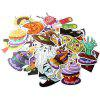Halloween Theme Car Motorcycle Bicycle Laptop Stickers 100pcs - MULTICOLOR