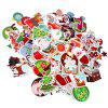 Christmas Theme Car Motorcycle Bicycle Laptop Stickers 100pcs - MULTI