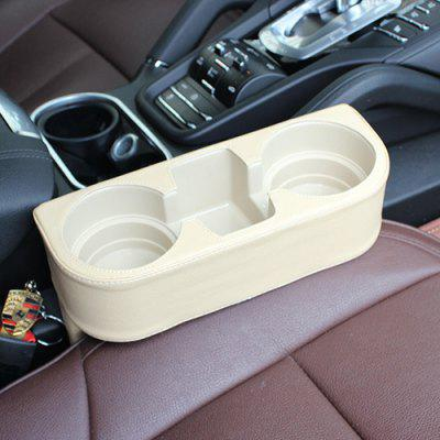 R151 - 2 Skinned Car Seat Catcher Gap Filler Storage Box Cup Holder Portable Commodity Shelf