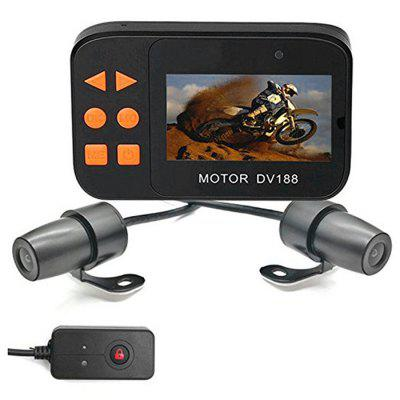 Maikou DV188 2.7 inch 1080 FHD Motorcycle DVR Waterproof Dual Lens Front and Rear-View Camera Motorbike Video Recorder