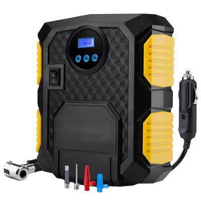 Electric DC 12V Auto Car Portable Air Compressor Pump Tire Inflator with LED Light and Digital Pressure Gauge