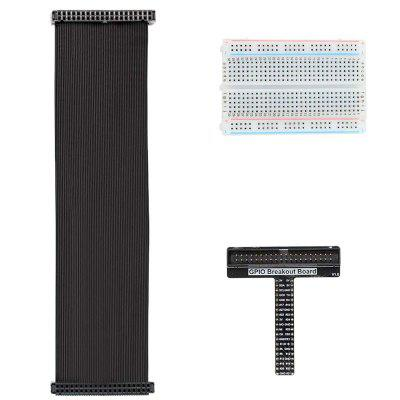 Raspberry Pi T-type GPIO Expansion Board +40P Cable + Breadboard Kit