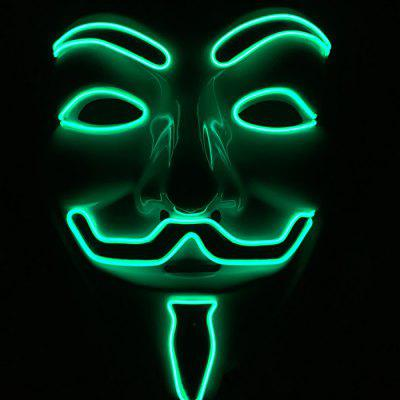 Halloween Party Glowing Masks Fournitures de Costume Cosplay