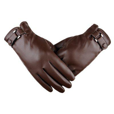 Touch Screen Men Gloves Leather Winter