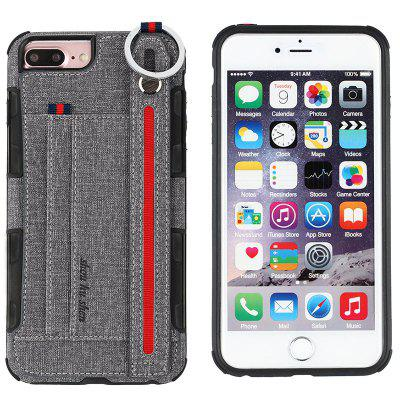 Cloth Protective Phone Case Cover with Finger Ring and Wristband for iPhone 6 / 7 / 8