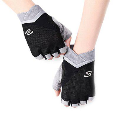 Man Breathable Half-finger Gloves for Fitness