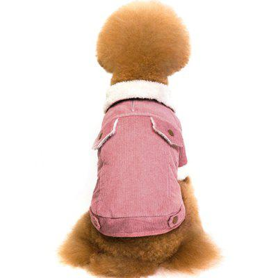 Pet Coat Add Fluff Thick Lapel Corduroy Dog Clothes
